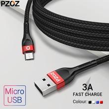 PZOZ Micro Usb кабель 3A Быстрая зарядка для samsung huawei Xiaomi redmi LG кабель для передачи данных Android мобильный телефон зарядное устройство Шнур Microusb