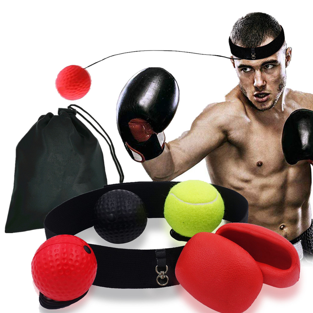 Boxing Reflex Ball With 3 Level Balls Punching Gloves For Boxing MMA Hand Eye Coordination Training Fight Speed Reaction Ball