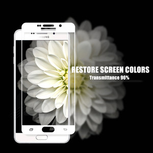 Image 5 - 9D Full Protective Glass on For Samsung Galaxy A3 A5 A7 2016 2017 A6 A8 Plus A9 2018 Tempered Screen Protector Glass Film Case
