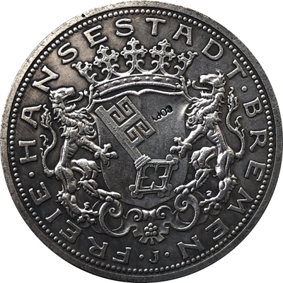 German 1904 2 Mark Coin Copy  28MM