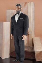Toy center CEN-M04 1/6 skala figurka żołnierza odzież akcesoria Model brytyjski dżentelmen czarny garnitur dla Phicen M34 figurka