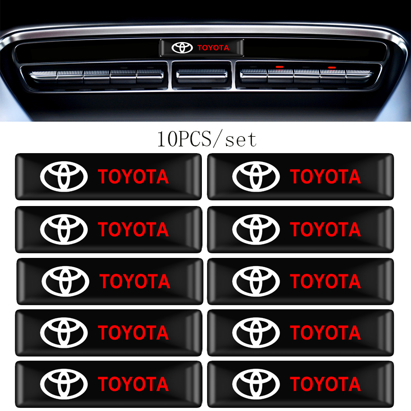 4/10Pcs Car Styling 3D Decorations Stickers Emblem Decal For Toyota Chr Corolla Auris Avensis T25 Yaris Rav4 Car Accessories
