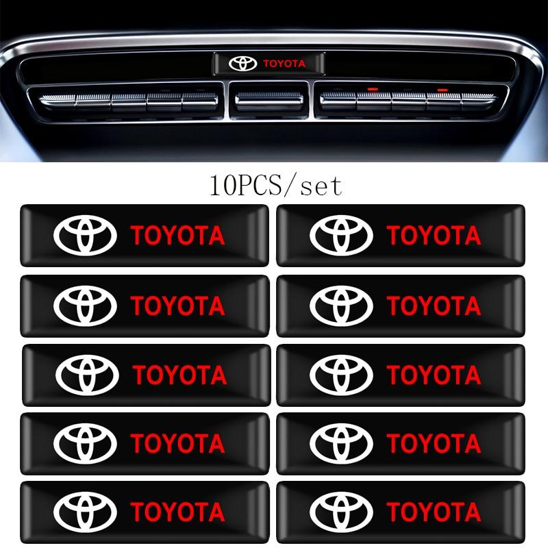 4/10Pcs Car Styling 3D Decorations Stickers Emblem Decal For Toyota Chr Corolla Auris Avensis T25 Yaris Rav4 Car Accessories