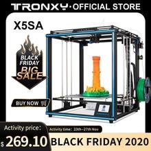 Tronxy 2020 yeni yükseltilmiş X5SA 24V 3D yazıcı DIY kitleri Metal yapı levha 330*330mm ısı masa 3d makinesi Filament sensörü