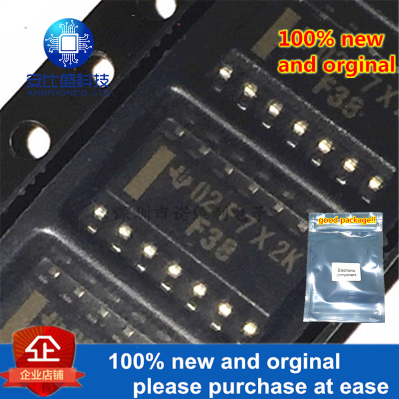 10pcs 100% New And Orginal F38 74F38D SN74F38D SOP3.9 QUADRUPLE 2-INPUT POSITIVE-NAND BUFFERS WITH OPEN-COLLECT 74F38D In S