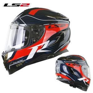 Image 3 - LS2 FF327 Challenger Full Face Motocycle Helmet Carbon Fiber Man Woman capacete ls2 Helemt With Inner Sun len  Racing Casco Moto