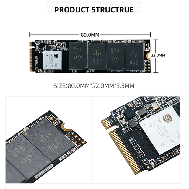 Hot KingSpec M.2 NVME ssd M2 1TB PCIe NVME SSD 128GB 512GB 256gb 2TB Solid State Drive 2280 Internal Hard Disk hdd for Desktop 4