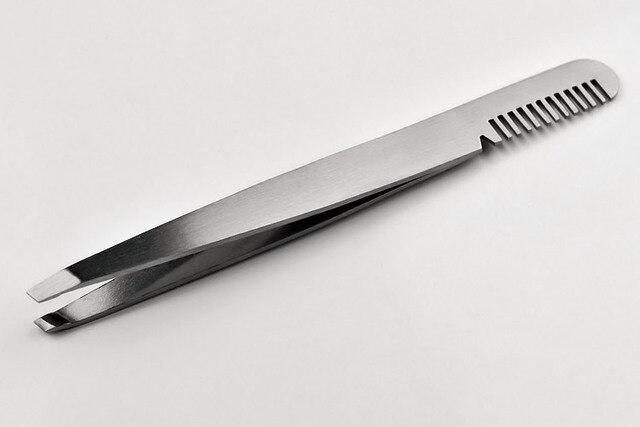 tool tweezers Comb Eyebrow Tweezers For Girl Makeup Forcep Stainless Steel Pliers Eyebrows Threading Eyelash Clip To Eyes Wallet 3