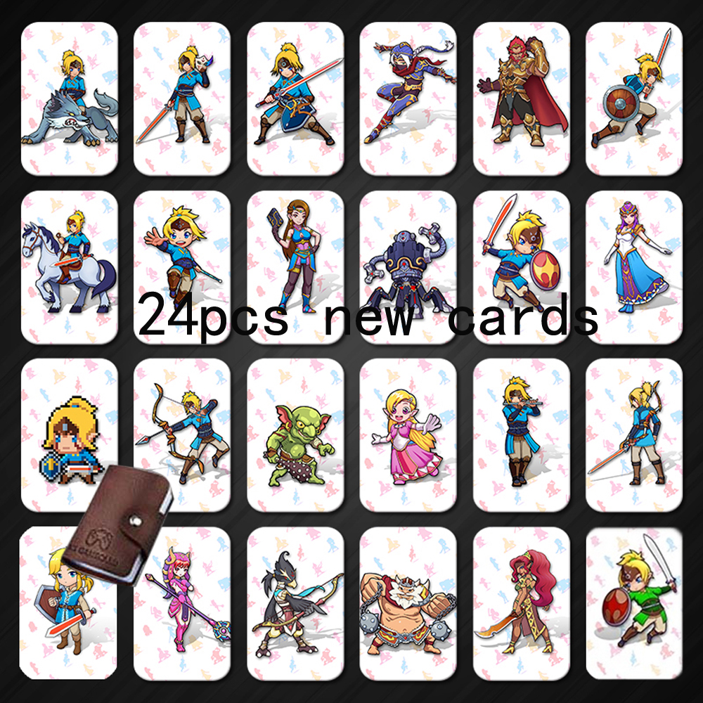 <font><b>Amiibo</b></font> 24 <font><b>NFC</b></font> 215 TAG Game <font><b>Cards</b></font> For Botw <font><b>Switch</b></font> Zelda Breath Wild Super Mario Smash Cart Bros Odyddey Splatoon 2 Kriby Ultimate image