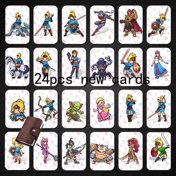24 NFC etiqueta 215 tarjetas de juego para Botw interruptor de Zelda aliento Super Mario Smash carro Bros Odyddey Splatoon 2 Kriby final