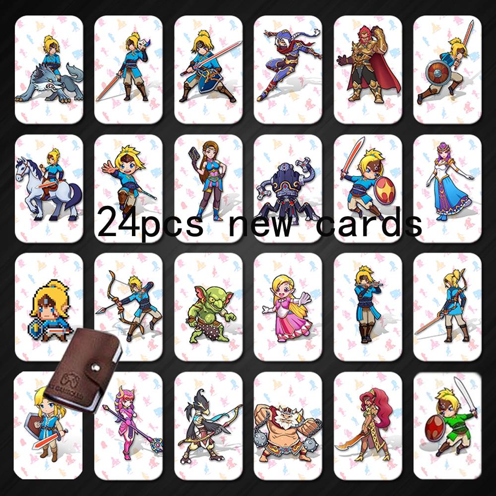 Amiibo 24 NFC 215 TAG Game Cards For Botw Switch Zelda Breath Wild Super Mario Smash Cart Bros Odyddey Splatoon 2 Kriby Ultimate