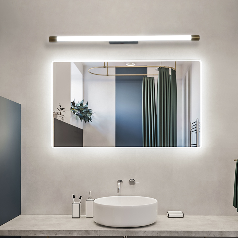 Simple Modern Nordic Long Wall Lamp Strip Mirror Front LED Bathroom Lighting Indoor Fixtures
