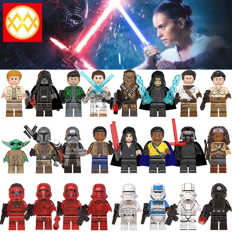lEGOED WM6082 WM6083 New Starwars Baby Yoda MandalorianMINIFIGURED Ray Empire robot attackers Mandalorians Building Blocks Toys