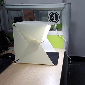 Image 4 - جديد المحمولة للطي صندوق الضوء التصوير مصباح ليد غرفة صور إضاءة الاستوديو خيمة لينة صندوق الخلفيات للكاميرا DSLR