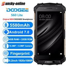 DOOGEE S60 Lite IP68 тройной проверки смартфон 4 Гб + 32 ГБ 5580 мАч 5,2 »Octa Core отпечатков пальцев с двумя сим-картами 4GCellphone Беспроводной заряда