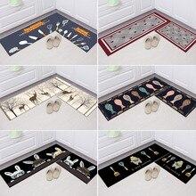 Non-slip Kitchen Carpets Washable Kitchen Rug Mats Easy Clean Doormat for Living Room Floor Mat Durable Doormats Home