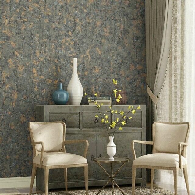Vintage katı renk gümüş/altın doku duvar kağıdı düz siyah gri yeşil basit duvar kağıdı rulo dokunmamış yatak odası oturma odası
