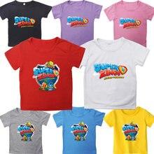Рубашка для мальчиков и девочек футболки с героями мультфильмов