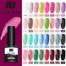 Esmalte de uñas de Gel UV NEE JOLIE, 60 colores, Color gris y rojo, barniz de Gel UV, Gel UV de 8ml para decoración de uñas