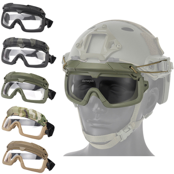 Tactical Airsoft Paintball Goggles Windproof Anti Fog CS Wargame Protection Goggles Fits For Tactical Helmet