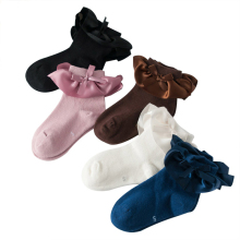 2019 New 5 Pairs Autumn Winter Baby Socks For Girls Princess Lace Dance Mix Color Cotton Toddler Sock