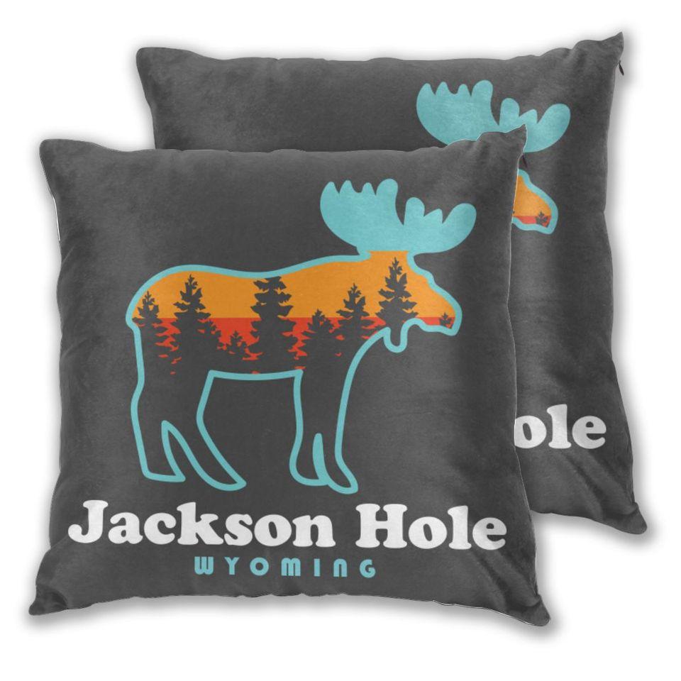 Throw Pillows Case Jackson Hole Wyoming Sofa Decorative Pillow Cushions Pillow Cover Cushion Cover Aliexpress