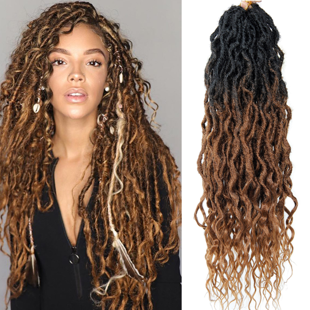 Faux Locs Crochet Braid Hair Bohemian Locs 16&22 Inches Synthetic Dreads Ombre Braiding Hair Afro Dreadlock