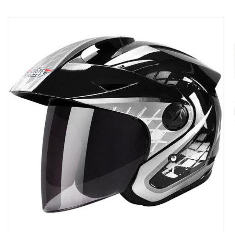 2019 Новая мода Велоспорт Защитная мотоциклетный шлем шлемы из АБС пластик линза козырек Четыре сезона универсальный