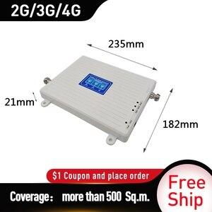 Image 4 - 4g güçlendirici 900/1800/2100 DCS WCDMA LTE GSM 2G 3G 4G Tri  bant mobil sinyal güçlendirici GSM hücresel tekrarlayıcı amplifikatör kırbaç anten