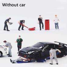 1 Set Repair Worker Doll Action Figures Sand Tabl Scene Miniatures Table Sand Worker 1:64 Accessories Character Model Toy R A4Y6