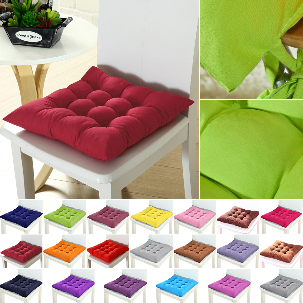 Junejour 1/2/4pcs Home Seat Cushion Pad Winter Office Bar Chair Back Seat Cushions Sofa Pillow Buttocks Chair Cushion 37x37cm