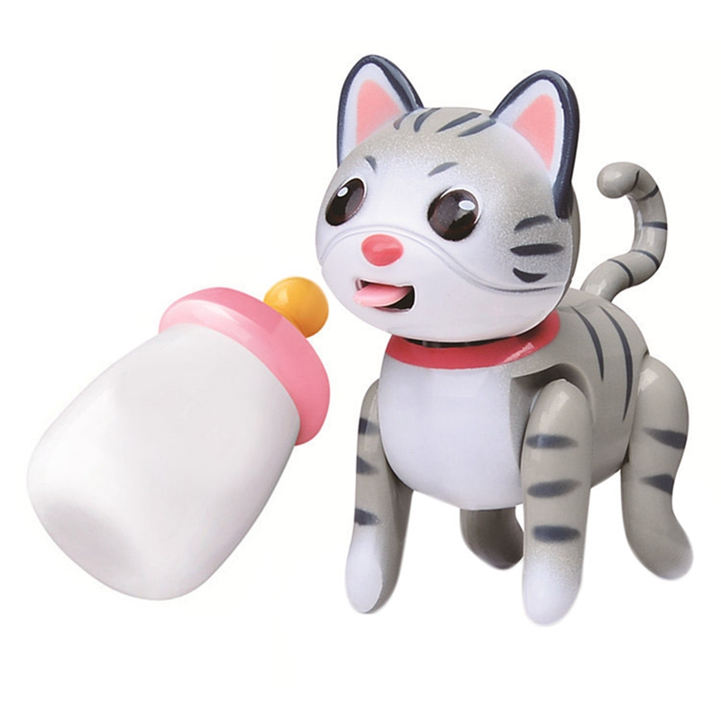Baby Pet Sucking Dog Cat Doll Interactive Electronic Pet Toy For Children Gift -The Pets Tongue Stick Out Drink Milk Bottle,B