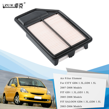 ZUK Brand New Air Filter Element For HONDA FIT JAZZ 2005 2006 2007 2008 FIT SALOON 2003-2006 CITY 2007-2008 OEM:17220-REJ-W00 image