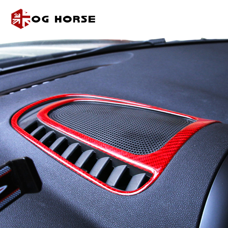 1pcs Car Dashboard Central Air Outlet Carbon Fiber Cover Decoration Shell Moulding Trim  For MINI Countryman F60 Accessories