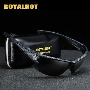 Image 1 - RoyalHot mężczyźni kobiety spolaryzowane siatka diamentowa rama sportowe okulary przeciwsłoneczne Vintage okulary okulary retro odcienie óculos mężczyzna 900177