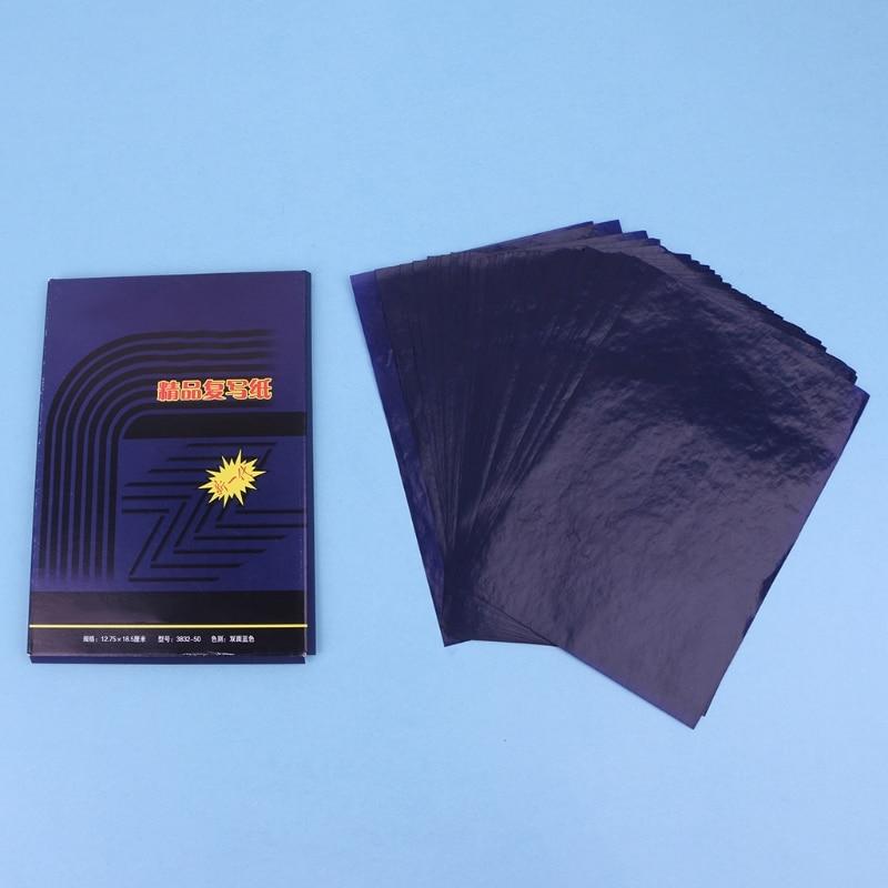 Двусторонний карбоновый копировальный трафарет, 50 листов, копировальная бумага, канцелярские принадлежности A6HE