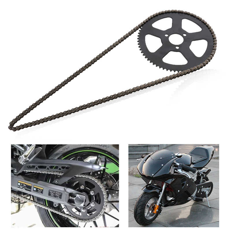 Achterband Tandwiel Disc Met 68 Links Chain Vervanging Voor 49cc 2 Takt Mini Pocket Bike