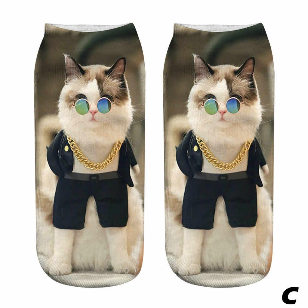 Mèo Unisex 3D In Hình Vớ Ngộ Nghĩnh Mắt Cá Chân Vớ Mèo In Hình Ngắn Tất 2020 Mới Mèo Hoạt Hình In Hình Cô Gái Động Vật hình Dạng Vớ