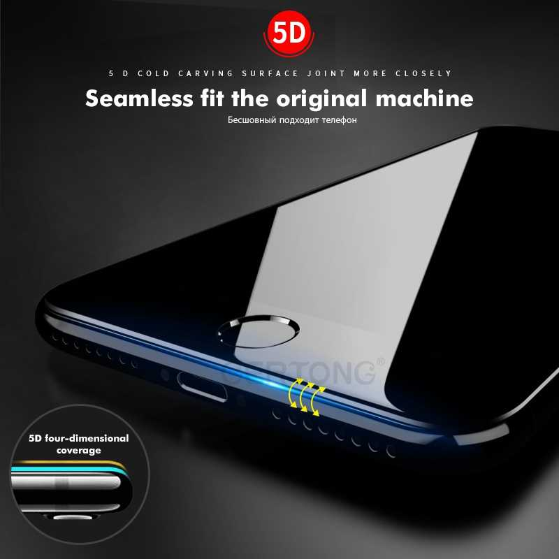 5D 9H zakrzywiona krawędź pełna pokrywa szkło hartowane dla iPhone 7 6 6S 8 Plus X XR XS Max osłona ekranu hartowana osłona ochronna 4D
