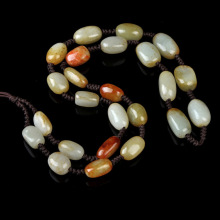 Hetian Jade Rough Stone Jade Pendant Lanyard Top Grade Pendant Seed Material Jade Necklace Sub Jade Rope
