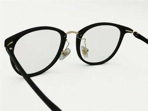Image 3 - Anti blue ray blocking eyeglasses computer portable glasses TR90 combined metal square UV400 slim simple TV watching eyewear