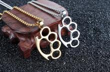 Fashion Thick Oval Metal Four Finger Brass Knuckle Duster Tool Outdoor Pocket Backpack EDC Portable Safety-defend Tool