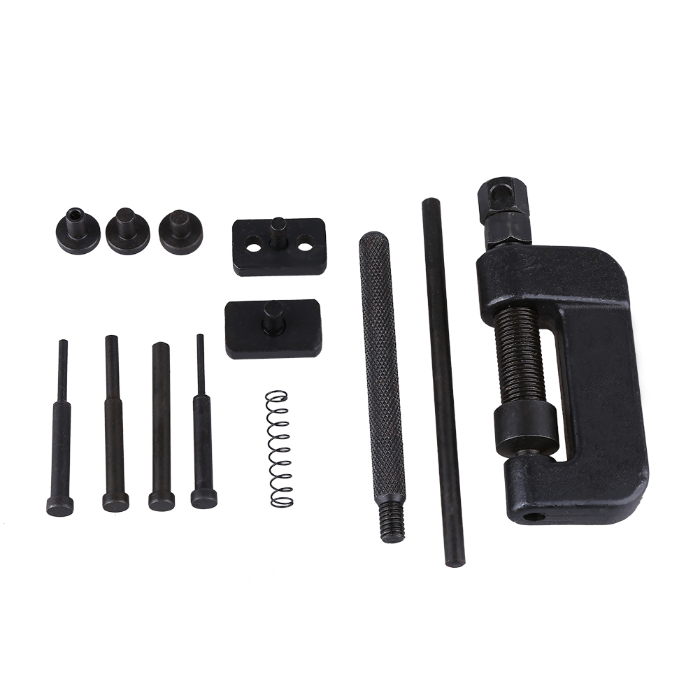 13Pcs Bike / Motorcycle / Cam Drive Chain Breaker Rivet Cutter Tool Kit For Breaking and joining most drive chain from 35-630