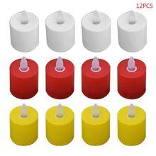 12pcs New Creative Flameless LED Swing Electric Flickering Tea Light Candles Romantic Wedding Christmas Decor