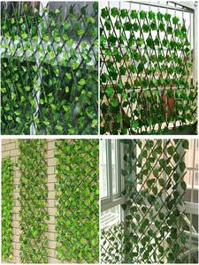 Fence-Decoration Extension-Fencing Garden Retractable Privacy Artificial Wood with Green