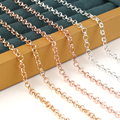 10 Yard/Roll Metal Cross O Chain Necklace /Silver/KC Gold For Women Men DIY Jewelry Findings Making Materials Handmade Supplies