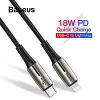 Baseus 1.3m 18W PD 3.0 Cable USB Type-C for Lightning Cable for iPhone 11 Pro X Xs Max Fast Charging USB-C for Lightning Cord