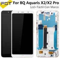 Pantalla LCD negra/blanca para BQ Aquaris X2 Con Digitalizador de Pantalla táctil para BQ X2 LCD Pantalla táctil Con Marco