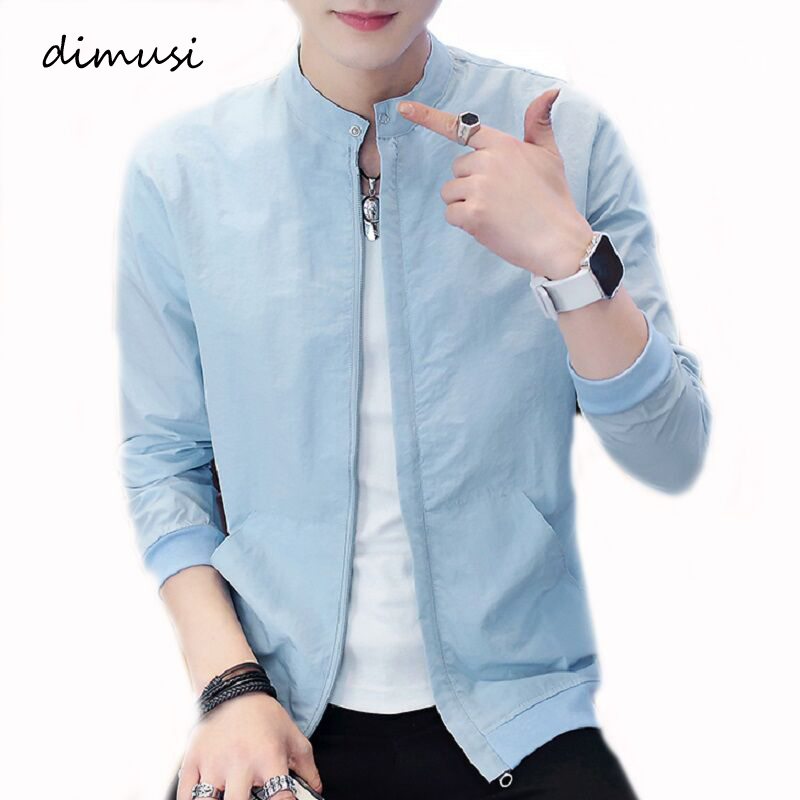 DIMUSI Men's Bomber Jackets Casual Male Thin Outwear Breathable Sportswear Coats Summer Mens Sunscreen Slim Fit Jackets Clothing