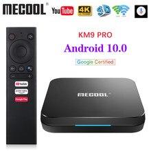 MECOOL – boîtier Smart TV KM9 Pro, android 10.0, Amlogic S905X2 9.0 KM3 ATV, 4 go 64 go, certifié Google, Wifi double bande, 4K